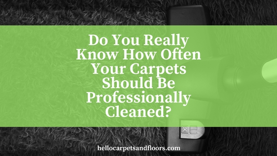 How Often Should Your Carpets Be Professionally Cleaned?